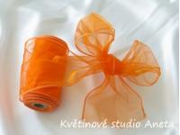 Organza 12cm tvarovací oranžová...