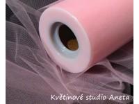 Tyl dekorační růžový 24cm x 23m...