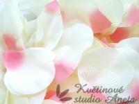 Okvětní plátky velké smetanovo růžové...