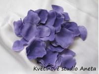 Okvětní plátky fialové tmavé 100ks