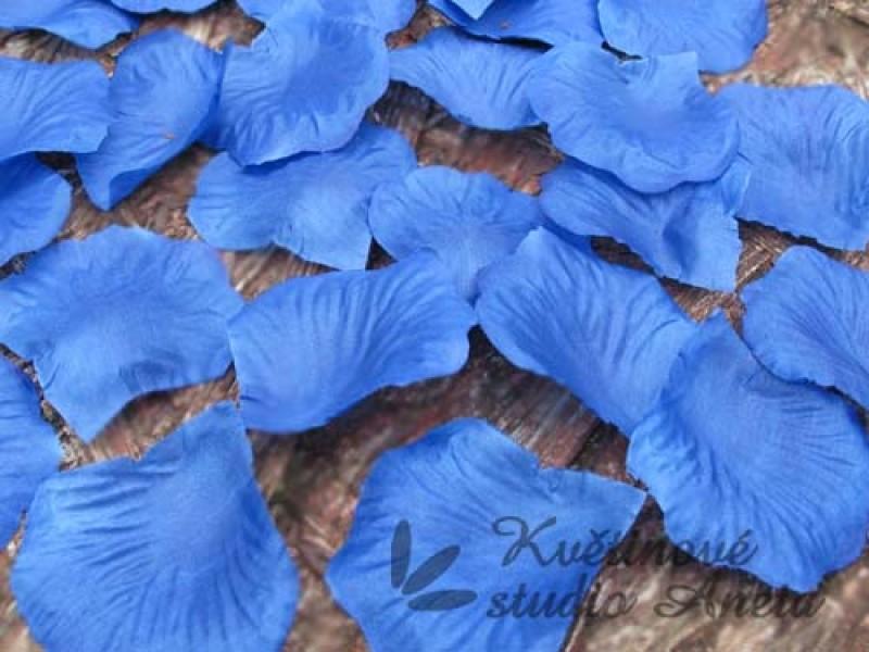 Okvětní plátky tmavě modré 100ks