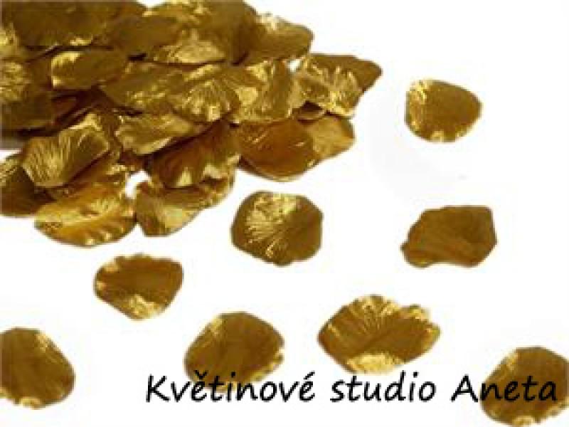 Okvětní plátky zlaté 100ks