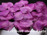 Okvětní plátky fialovo růžové 100ks...