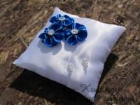 Polštářek květinkový královsky modrý...