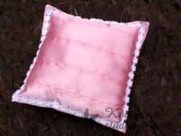 Polštářek na prstýnky růžový s květinkami...