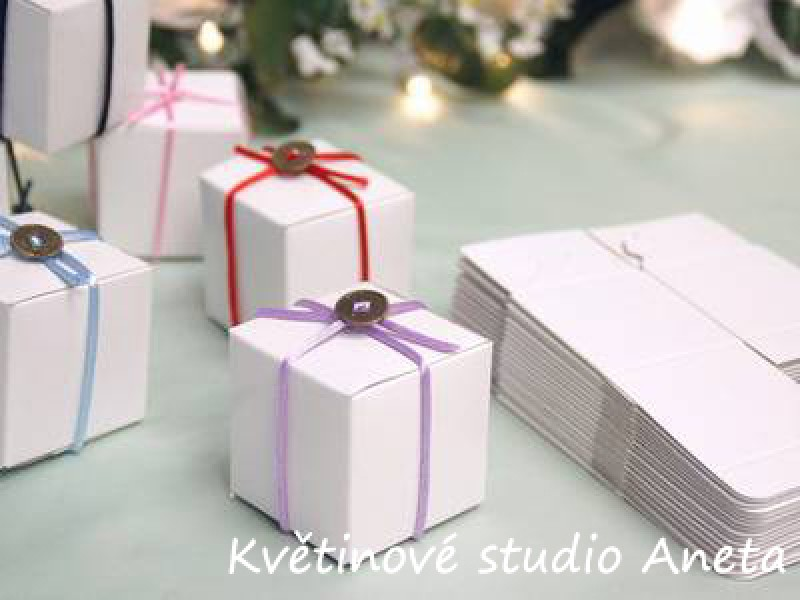 Krabička na svatební mandle