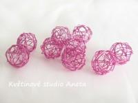 Drátěné kouličky růžové...