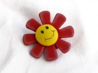Kolíček s květinkou červenou...