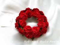 Věneček s kvítky červený...