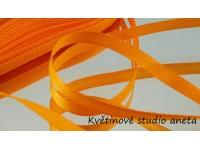 Stuha taftová oranžová 0,6cm...
