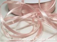 Stuha saténová 0,3cm růžová světlá EKO