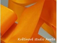 Stuha taftová oranžová 4cm...