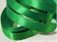Stuha saténová tmavě zelená 0,6cm...