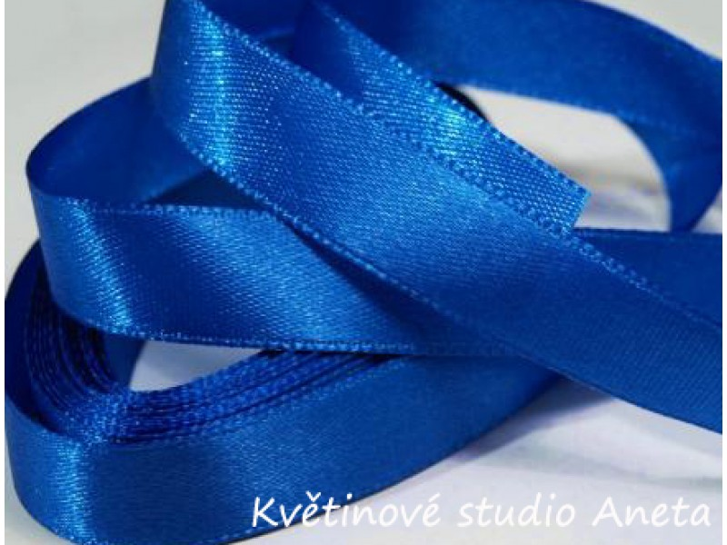 Stuha saténová královky modrá 2,5cm