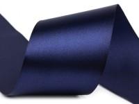 Stuha saténová modrá tmavě 3,8cm