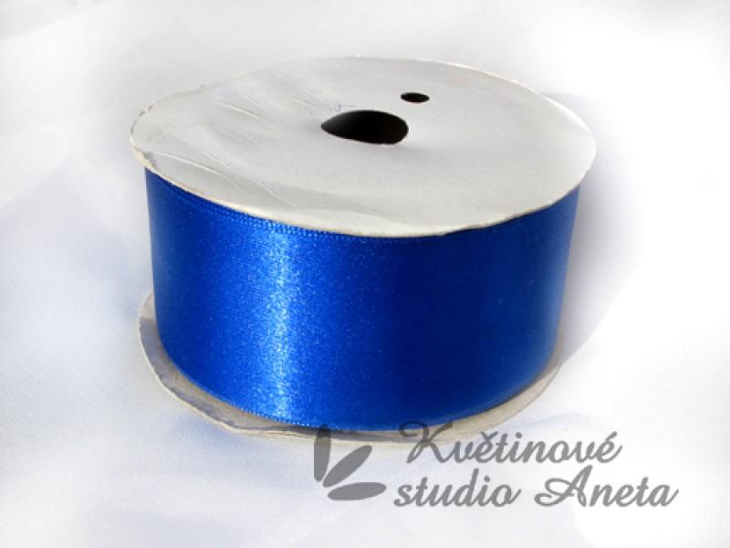Stuha saténová modrá královsky 3,8cm