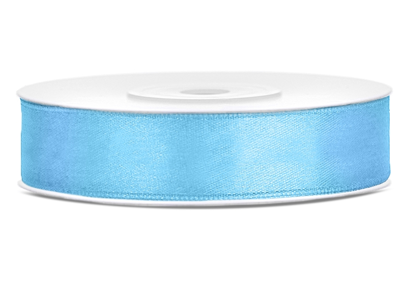 Stuha saténová nebesky modrá 1,2cm