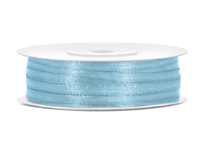 Stuha saténová 0,3cm modrá EKO