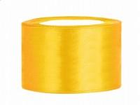 Stuha saténová tmavě žlutá 3,8cm...