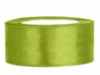 Stuha saténová zelené jablko 3,8cm