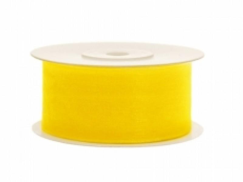 Stuha šifonová žlutá 1,2cm