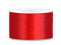 Stuha saténová červená 3,8cm