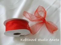 Stuha šifonová červená tvarovací 4cm