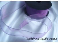 Stuha šifonová fialová tmavě tvarovací 4cm...