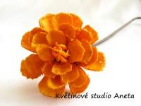 Květ lepený oranžový...