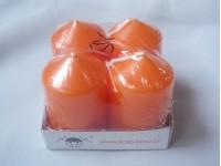 Svíčky adventní oranžové...