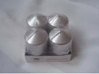 Svíčky adventní stříbrné metal...