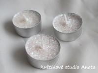 Čajové svíčky perleťové glitry 10ks...