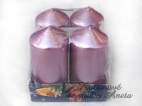 Svíčky adventní růžové sv. perleťové...