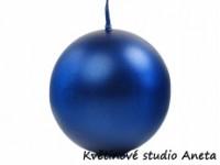 Svíce koule modrá metal 4cm...