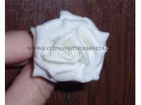 Pěnová růžička na drátku bílá...