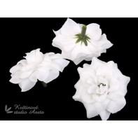 Květ růže 4cm bílý plný ...