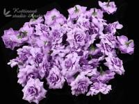 Květ růže 4cm fialový plny...