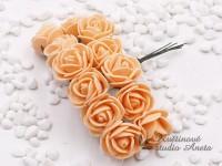 Růžičky na drátku malé lososové...