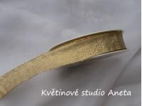 Vánoční stuha zlatá 25mm...