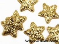 Vánoční dekorace hvězdička  zlatá 35mm...
