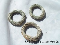 Ratanový kroužek stříbrný 6,5cm...