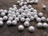 Deko kuličky stříbrné třpyt...