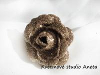 Květ třpytivý LUX mocha...
