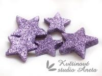 Hvězda gliter fialová 5cm...