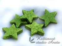 Hvězda gliter zelená 4cm...