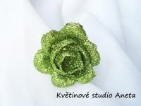 Květ třpytivý LUX zelený...