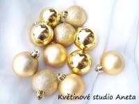 Vánoční ozdoby zlaté sada 2,5cm/20ks