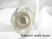 Květ třpytivý LUX bílý...