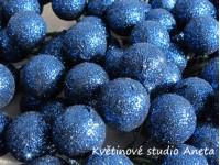 Vánoční kouličky třpyt modré tm....