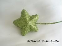 Hvězdička na drátku zelená...